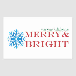 Snowflake Holiday Sticker