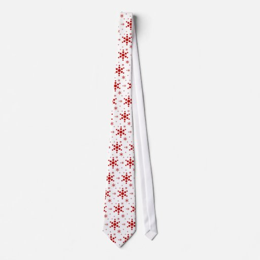 snowflake holiday tie