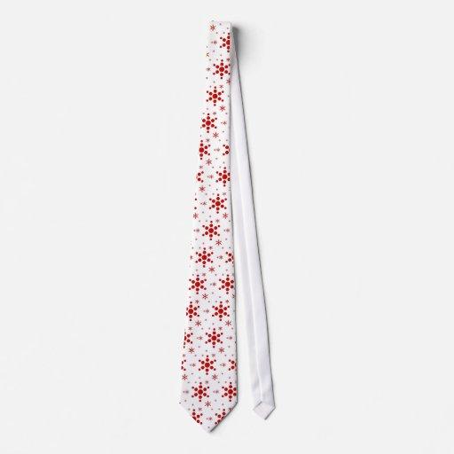 snowflake holiday tie