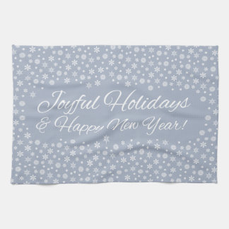 Snowflake Holidays kitchen towels