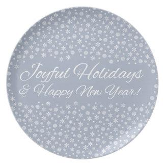 Snowflake Holidays plates