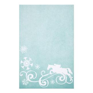 Snowflake Horse Holiday Christmas Stationery