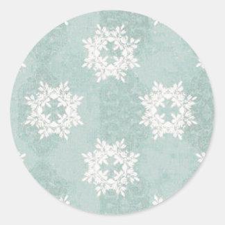 Snowflake Ice Blue Sticker