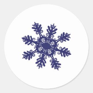 Snowflake II Round Sticker