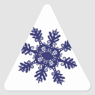 Snowflake II Triangle Sticker