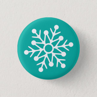 Snowflake illustration 3 cm round badge