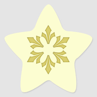 Snowflake in Rich Gold Star Sticker