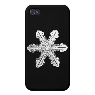 Snowflake iPhone Case with Black Background iPhone 4/4S Case