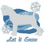 Snowflake Jack Russell Terrier Embroidered Hoodie