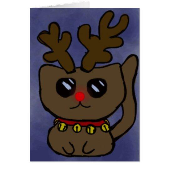 Snowflake Kitty Card