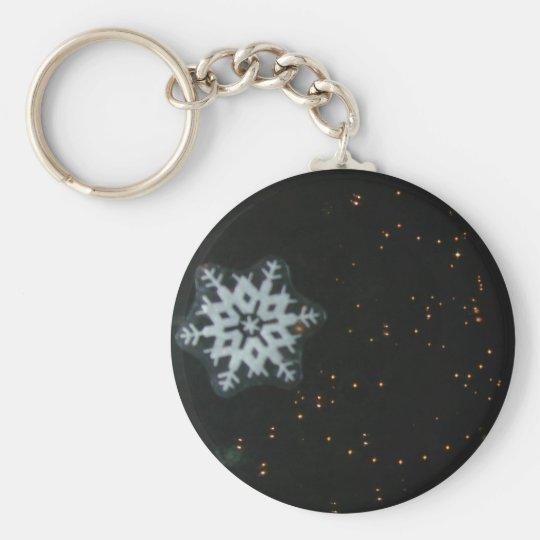 Snowflake & Lights keychain