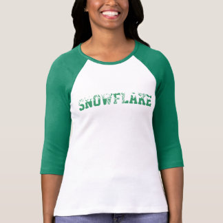 'Snowflake' long sleeved two tone top