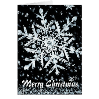 Snowflake Merry Christmas special Note Card