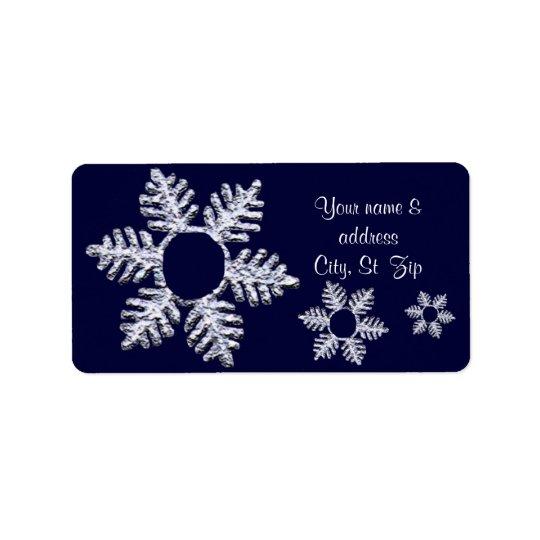 Snowflake message label