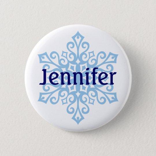 Snowflake Name Badge Buttons