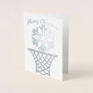 Snowflake Netball Merry Christmas Foil Card
