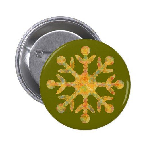 Snowflake On A Button