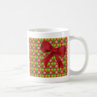 Snowflake on Argyle Coffee Mug
