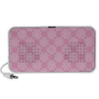 Snowflake on Pink Laptop Speaker