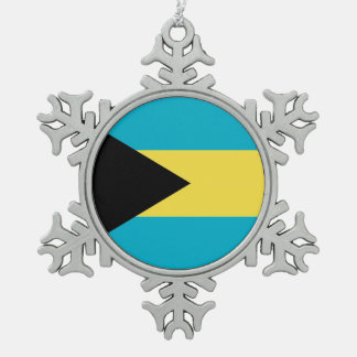 Snowflake Ornament with Bahamas Flag