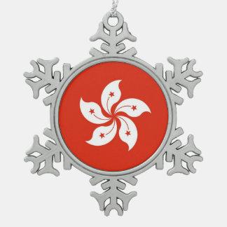 Snowflake Ornament with Hong Kong Flag