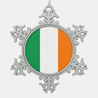 Snowflake Ornament with Ireland Flag
