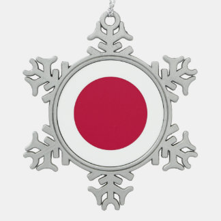 Snowflake Ornament with Japan Flag