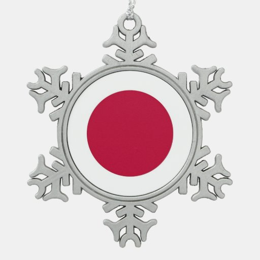 Snowflake Ornament with Japan Flag Ornaments