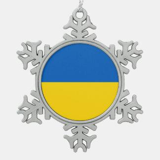 Snowflake Ornament with Ukraine Flag