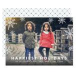 Snowflake Overlay   Holiday Photo Card 13 Cm X 18 Cm Invitation Card
