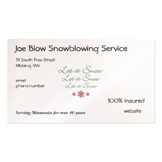 Snowflake Pack Of Standard Business Cards