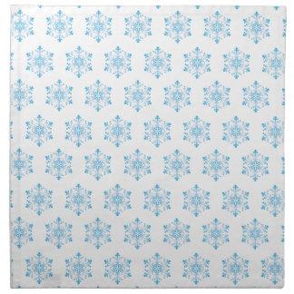 Snowflake Pattern Background Napkin