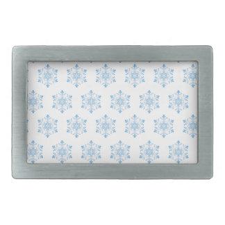 Snowflake Pattern Background Rectangular Belt Buckles