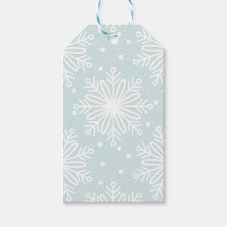 Snowflake Pattern Gift Tag