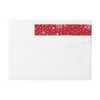 Snowflake Pattern Holiday Return Address Labels