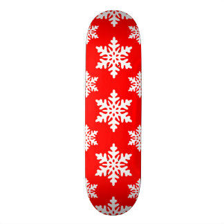 snowflake pattern skate deck