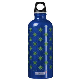 Snowflake pattern water bottle