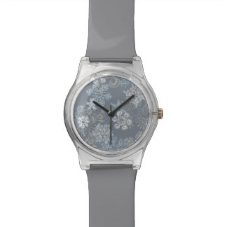 Snowflake Pattern Wrist Watch