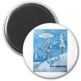 Snowflake Philosophers Funny Gifts Tees Cards Etc 6 Cm Round Magnet