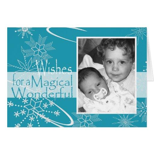 Snowflake Photo Card