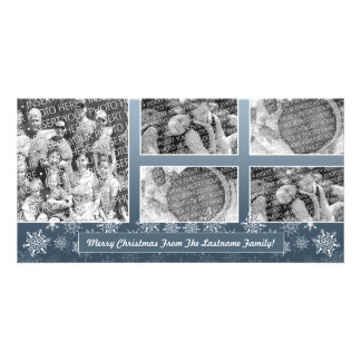 Snowflake Photo Card: 5 photo collage Personalized Photo Card