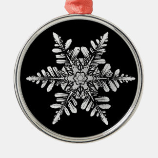 Snowflake Photo Ornament, 1-sided Christmas Ornament