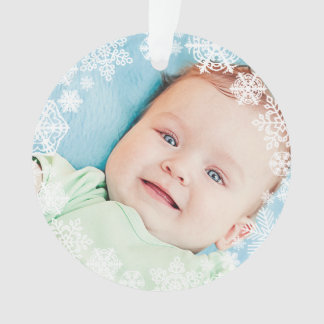 Snowflake Photo Ornament | Baby First Christmas