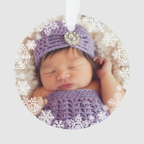Snowflake Photo Ornament | Baby's First Christmas