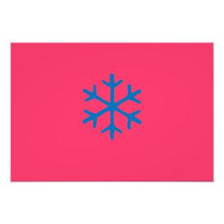 snowflake photographic print