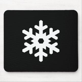 Snowflake Pictogram Mousepad