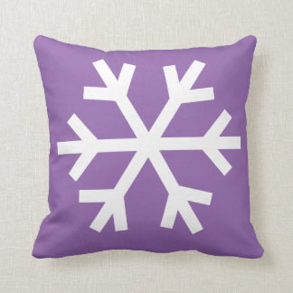 Snowflake pillow - purple