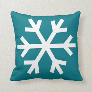 Snowflake pillow - teal