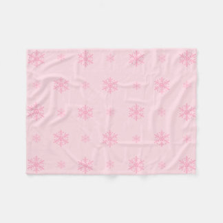 Snowflake polyester Fleece Blanket