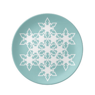 Snowflake Porcelain Plate